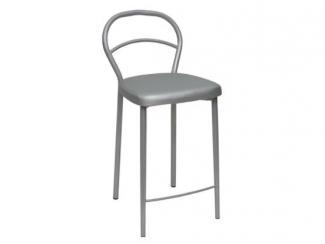 Серый барный стул Сонет-43 - Мебельная фабрика «Ногинская фабрика стульев»