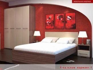 Спальный гарнитур Квадро вариант 1 - Мебельная фабрика «Элна»