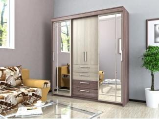 Шкаф купе с 4-мя ящиками ЛДСП - Мебельная фабрика «Лига Плюс» г. Волжск
