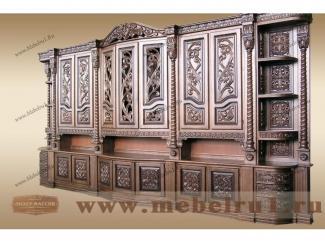 Стенка  Графская резьба - Мебельная фабрика «Лидер Массив»