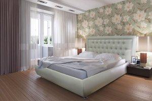 Кровать Валенсия экокожа - Мебельная фабрика «Сарма»