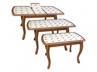 Стол обеденный инкрустация 2 - Мебельная фабрика «Древпром»