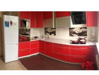 Красная угловая кухня  - Мебельная фабрика «Альфа-Мебель»