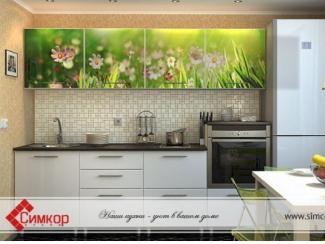 Кухня Лето МДФ фотопечать - Мебельная фабрика «Симкор», г. Ульяновск
