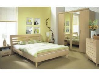Светлый спальный гарнитур из дерева  - Мебельная фабрика «Перспектива»