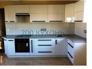 Угловая кухня Белая глянец - Мебельная фабрика «700 Кухонь»