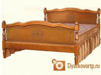 Кровать Елена массив - Мебельная фабрика «Дятьковское РТП-1»