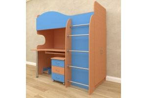 Детская кровать-чердак Гном - Мебельная фабрика «Алтай-мебель»