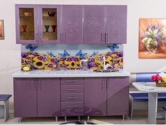 Кухня прямая Вета-17 бабочки геоцинт - Мебельная фабрика «Бубен»