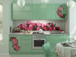 Кухня прямая «Розовая гроздь» - Мебельная фабрика «Ладос-мебель»