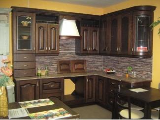 Кухня Дуэт Классика Шпонированные фасады - Мебельная фабрика «Киржачская мебельная фабрика»