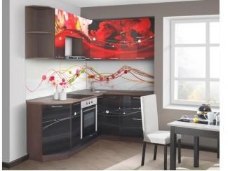 Угловая кухня Красные лепестки