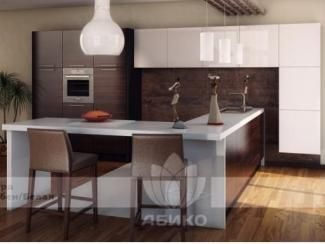 Кухня Футура Эбен/Белая - Мебельная фабрика «Абико»