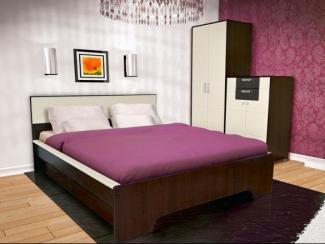 Спальный гарнитур Домино Венге - Мебельная фабрика «Евромебель»