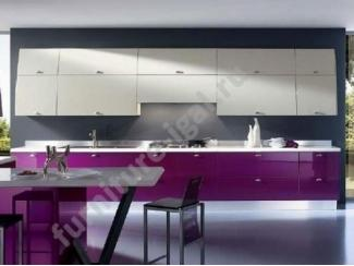 Идеальная кухня в бело-фиолетово цвете  - Изготовление мебели на заказ «Игал»