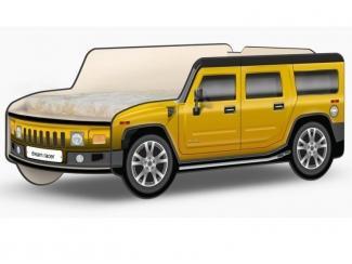 Кровать-машина Джип Хаммер Классик жёлтый - Мебельная фабрика «КАРоБАС»
