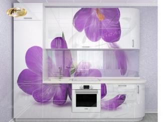 Кухня прямая «Крокус WHite Gloss» - Мебельная фабрика «Ладос-мебель»