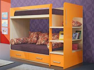 детская кровать 2х ярусная 8 (Гармония)
