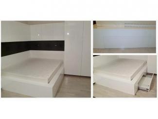 Подиум для кровати с выдвижным ящиком, эмаль, глянец - Мебельная фабрика «Апарта Мебель»