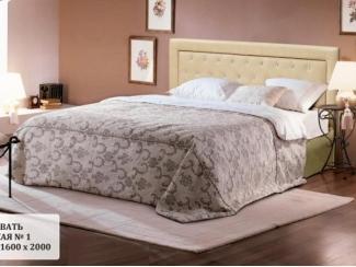 Кровать мягкая со стразами №1 - Мебельная фабрика «Альбина»