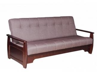 Диван прямой Бриз с деревянными подлокотниками - Мебельная фабрика «Боринское»