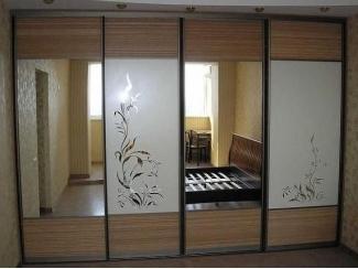 Шкаф-купе с зеркалами с спальню  - Мебельная фабрика «700 Кухонь»