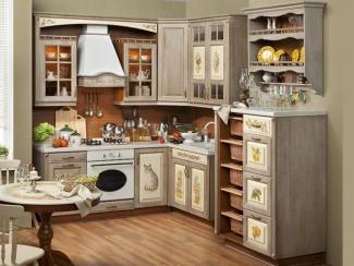 Кухонный гарнитур угловой Шато - Мебельная фабрика «Экомебель», г. Москва