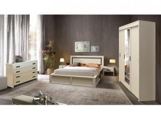 Спальня Луксор в цвете слоновая кость  - Мебельная фабрика «Пинскдрев»