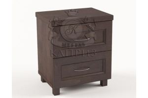 Прикроватная тумба 8 с двумя ящиками - Мебельная фабрика «Каприз»
