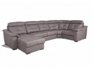 Угловой модульный диван Бавария 2 с оттоманкой