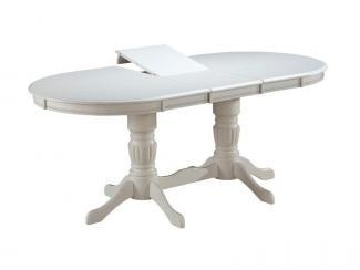 Стол Anjelica T6EX2 кремово-белый - Импортёр мебели «А.Т.Дизайн (Малайзия)»