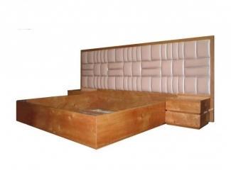 Кровать Марта  с широким изголовьем - Мебельная фабрика «Фабрика-Интерьеров»