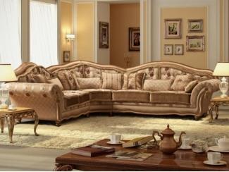 Элитный диван во французском стиле Бернардо угловой  - Мебельная фабрика «Орион»