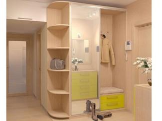 Прихожая прямая светлая - Изготовление мебели на заказ «Мега»