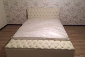 Кровать белая - Мебельная фабрика «Уют»