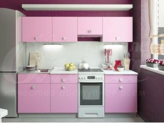 Розовая кухня Ирис  - Мебельная фабрика «Ольга»
