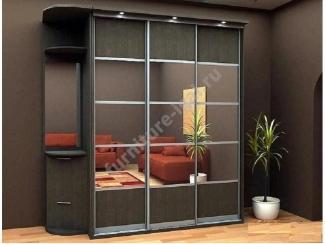 Шкаф-купе в темном цвете  - Изготовление мебели на заказ «Игал»