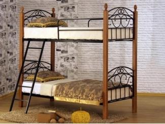 Кровать двухъярусная одинарная Анжелика Д2я - Мебельная фабрика «MILANA GROUP»