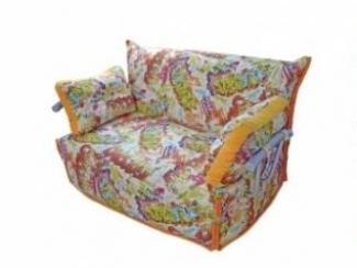 Диван Аккордеон с хром подлокотниками - Мебельная фабрика «Viktoria»