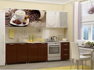 Кухня ЛДСП с фотопечатью Кофе - Мебельная фабрика «Альбина»