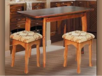 стол и табурет Массив (дерево) - Мебельная фабрика «Долес»