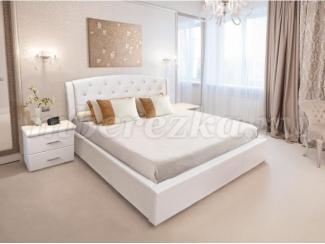Кровать без подъемного механизма Диана стразы - Мебельная фабрика «Березка»