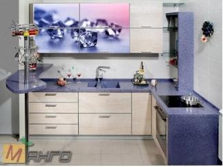 Угловая кухня Роса с фотопечатью