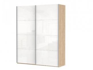 Шкаф-купе Элит (Миллениум) дуб бардолино/белое стекло - Мебельная фабрика «Фран»