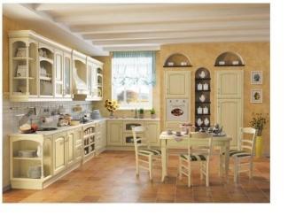 Кухня  Красотка  из массива дуба - Мебельная фабрика «Лидер Массив», г. Тамбов