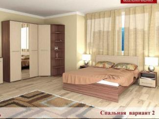 Спальня Квадро вариант 2 - Мебельная фабрика «Элна»