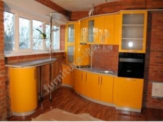 Яркая кухня с барной стойкой  - Изготовление мебели на заказ «Игал»