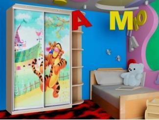 Шкаф-купе с фотопечатью и этажеркой - Мебельная фабрика «Долес»