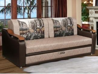 Диван с деревянными подлокотниками 50 - Мебельная фабрика «Скорпион», г. Кузнецк