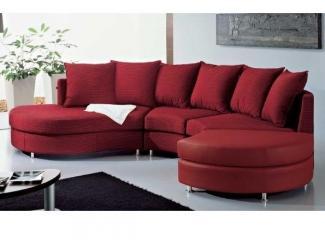 Красный п-образный диван Нью-Йорк  - Импортёр мебели «Camelgroup (Италия)»